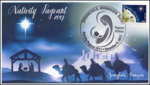 17-396, 2017, Nativity Pageant, Springfield MN Christmas, Pictorial, Event Cover