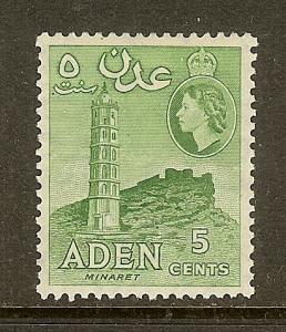 Aden, Scott #48a, 5c Queen Elizabeth, P12, MLH