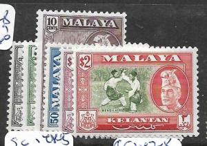MALAYA KELANTAN  (P0601B) SG 83, 87-8, 91-3  MOG