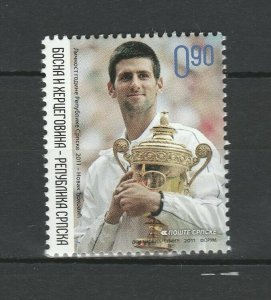 Bosnia and Herzegovina Serbian 2011 Sport Tennis Djokovic MNH stamp