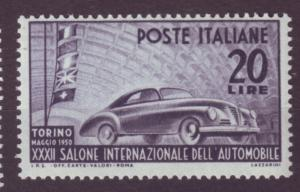 J17243 JLstamps 1950 italy set of 1 mnh #532 auto car