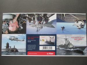 AU 2011 SG SB380 CENTENERY OF ROYAL AU NAVY $12.00 BKL CV £42.00 MNH UNFOLDED