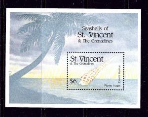 St Vincent 1840 MNH 1996 Sea Shells S/S