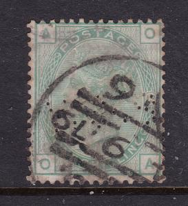 Great Britain a 1/- QV plate 13 used but perfined