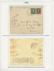 GUAM #1 & 3 ON COVER RPO MISSENT APRIL 21,1903 CV $600 BS8440 HS108G