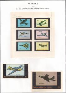 SCOTLAND - BERNERA - 1982 - Fighter Aircraft - 6v Perf. Min., D/L Sheets - MLH