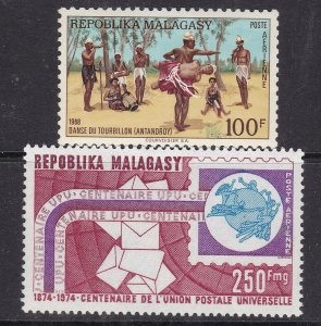 MADAGASCAR  ( Malagasy Rep) ^^^^sc#  C86+C129 MNH AIRPOSTS $$ @ lar 1142mala