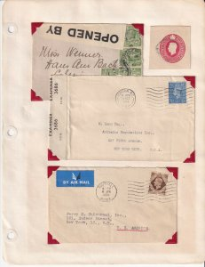 GREAT BRITAIN GEORGE V VI POSTAL STATIONERY COLLECTION LOT 2 CENSORED