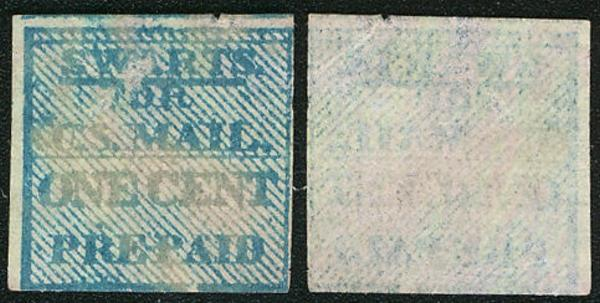 #Local 136L14 VF/XF, Swart's 1c, normal acid cancel, Rare Used Stamp SCV $60.