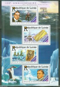 GUINEA  2015 100th ANN OF THE ENDURANCE EXPEDITION ERNEST SHACKLETON  SHEET   NH