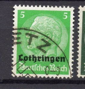 Germany Lothringen Optd 1940 Early Issue Fine Used 5pf. NW-05268