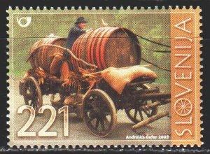 Slovenia. 2003. 452. Peasant cart, barrels. MNH.