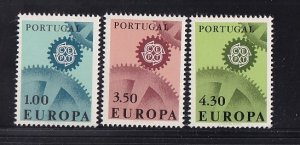 Portugal  #994-996  MNH  1967  Europa
