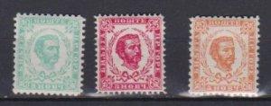 Montenegro 1898 Scott 33-35 Prince Nicholas I MNH