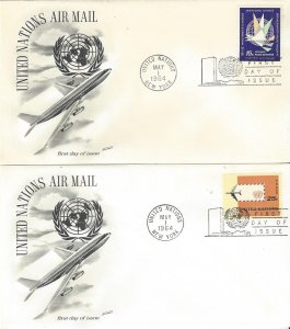 United Nations C11-2  FDC  Airmail  Fleetwood Cachet