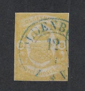 GERMAN STATES - OLDENBURG SC# 15 F/U 1861