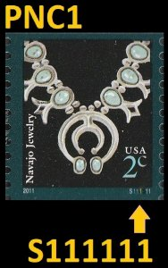 US 3758B American Design Navajo Jewelry 2c PNC1 MNH 2011