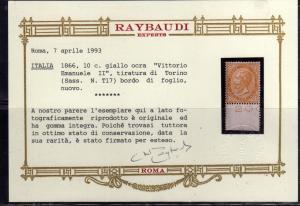 ITALIA REGNO ITALY KINGDOM 1863 1866 EFFIGIE RE VITTORIO EMENUELE II CENT. 10...
