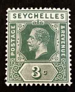 Seychelles Scott 75 KGV 3 Cent-Mint NH