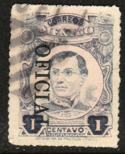MEXICO O145 1c OFFICIAL USED. F-VF. (97)