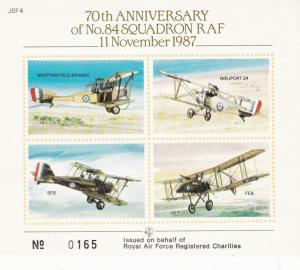 70th anniversary of 84th Squadron 1987 JSF4 Self Adhesive Sticker VGC
