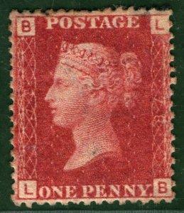 GB QV Stamp SG.43/44 1d Penny Red Plate 78 (1863) Mint VLMM OG Cat £130- RED67