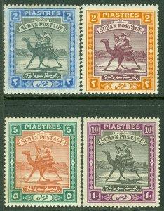 EDW1949SELL : SUDAN 1902-21 Scott #24-27 Top Values. VF, Mint OG. Catalog $116.