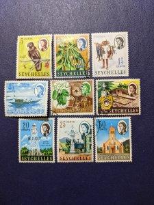 Seychelles 198-202,204A-205,207-208 VF, CV $16.05