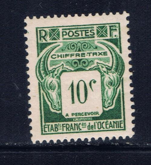 French Polynesia J18 Hinged 1948 Postage Due