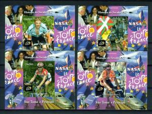 Sao Tome and Principe  2006 Tour de France-Pope John Paul II-Space-Trains 9 SS