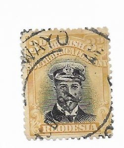 Rhodesia #124 Used - Stamp - CAT VALUE $4.75