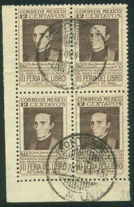 MEXICO 791, 12c Book Fair Block of four Used. F-VF. (461)