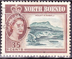 NORTH BORNEO 1961 35 Cents Slate-Blue & Red-Brown SG400 Fine Used
