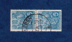 GDR. 1955.Sc 331 Used Horz. Pair VF