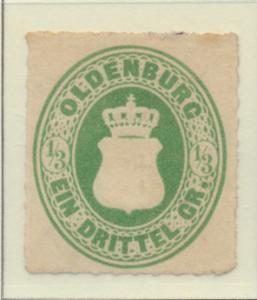 Oldenburg (German State) Stamp Scott #16, Unused, No Gum - Free U.S. Shipping...