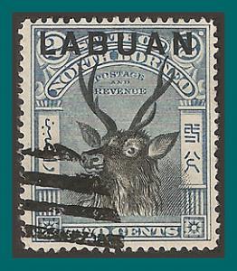 Labuan 1897 Sambar Stag, p15, cancelled  73,SG90c