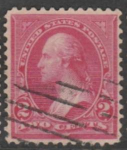 U.S. Scott #267c Washington Stamp - Used Single - Rose Carmine Type III