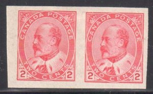 Canada #90a Mint LH Imperf Pair