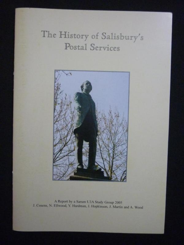 THE HISTORY OF SALISBURY'S POSTAL SERVICES by J COSENS ETC