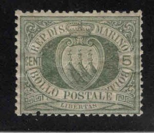 San Marino Scott 5 MH* Olive Green 1892 stamp