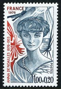 France B495, MNH. Anna de Noailles, writer and poet, 1976