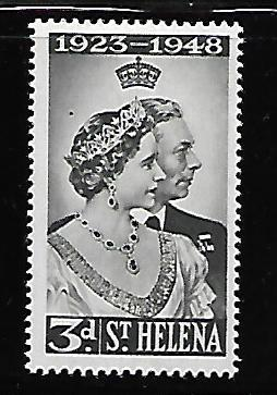 ST HELENA 130 MINT HING SILVER WEDDING ISSUE