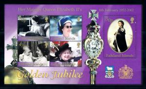[72085] Falkland Islands 2002 Royalty Queen Elizabeth Souvenir Sheet MNH