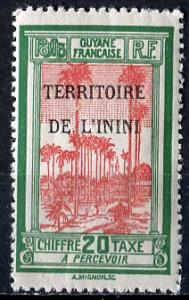 Inini; 1932; Sc. # J3; */MLH Single Stamp