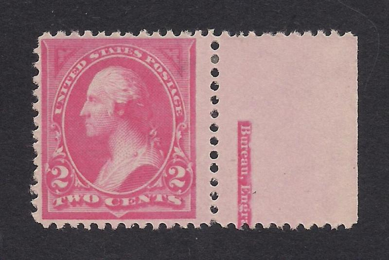US#248 Pink - Type I - Margin Single - Unused - O.G.
