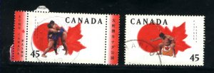 Canada #1723-24    -2   used VF  1998 PD