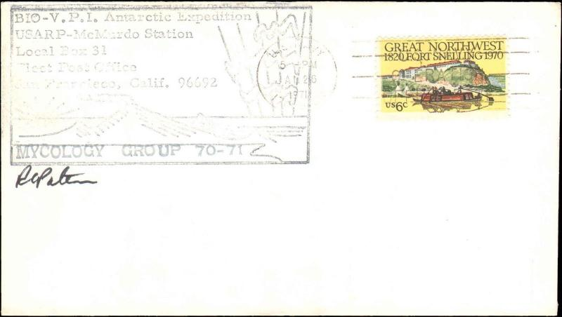 1971 US NAVY ANTARCTIC EXPEDITION CACHET + SIGNED