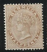 Bermuda SC 16  1/2p  MNG F/VF See Scan for Cancel, Centering, Perfs