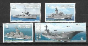 2014    THAILAND  -  3594  / 3597  -  ROYAL NAVY SHIPS   -  MNH