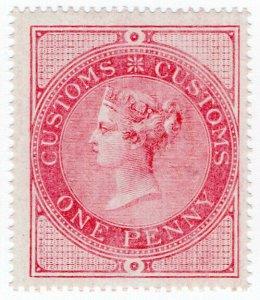 (I.B) QV Revenue : Customs Duty 1d (unmounted mint)